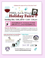 Paws Art Wine 2010 Flyer