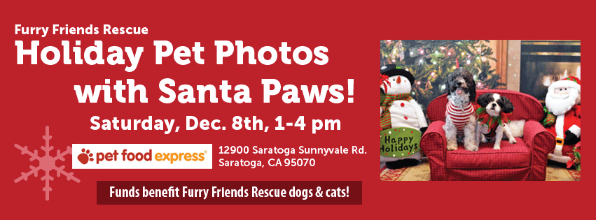 Furry Friends Rescue Pet Photo with Santa Paws & Holiday Photos! Dec. 8th