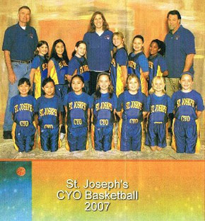 St. Joseph's CYO 4th Grade Girls basketball team