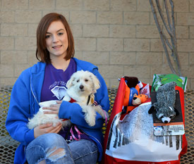 Sarah, Bella and her Donations